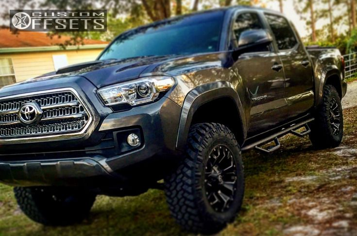 1 2016 Tacoma Toyota Suspension Lift 3 Fuel Assault Black Flush