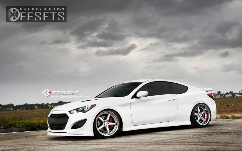 wheel offset 2013 hyundai genesis coupe tucked dropped 3 custom rims. Black Bedroom Furniture Sets. Home Design Ideas