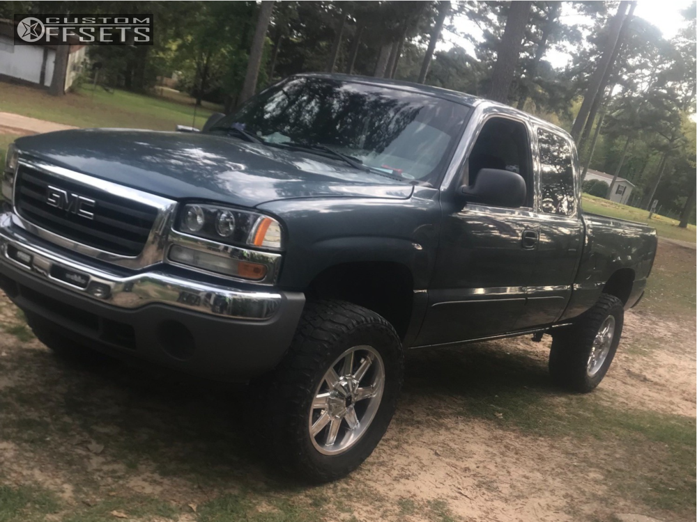 1 2005 Sierra 1500 Gmc Rough Country Suspension Lift 6in Xd N A Blue