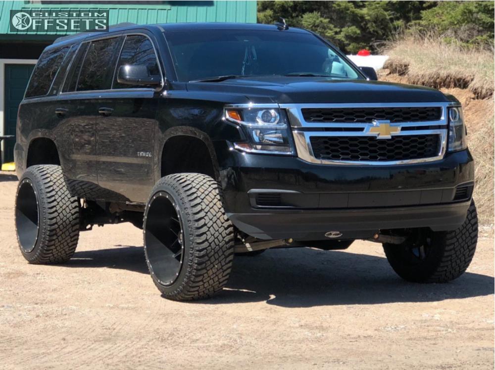 1 2016 Tahoe Chevrolet Pro Comp Suspension Lift 65in Hardrock Affliction Black