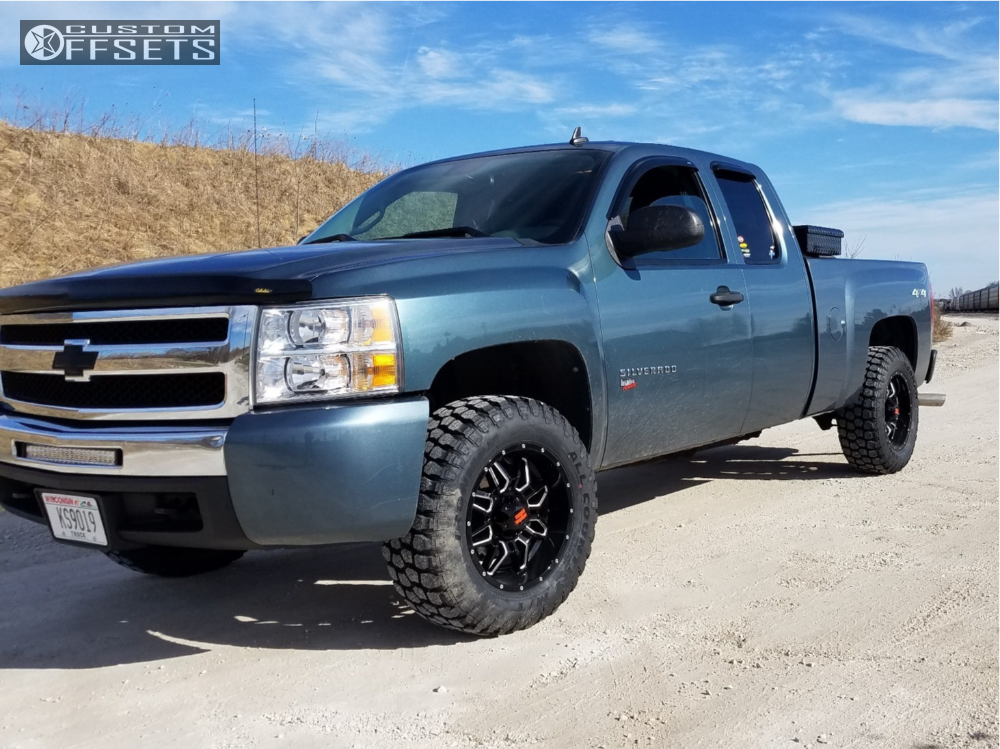 1 2009 Silverado 1500 Chevrolet Motofab Leveling Kit Havok H109 Machined Accents
