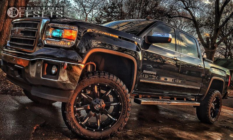 1 2014 Sierra 1500 Gmc Suspension Lift 6 Fuel Nutz Black Aggressive 1 Outside Fender