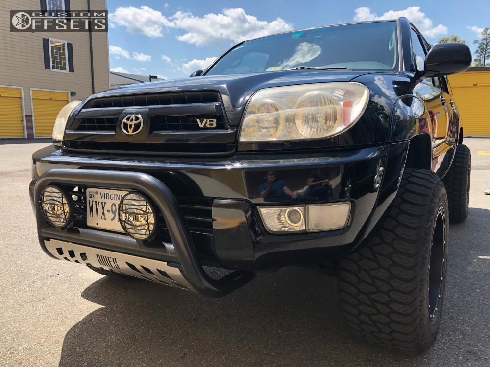 3 2005 4runner Toyota Daystar Leveling Kit Body Lift Fuel Hostage D531 Black