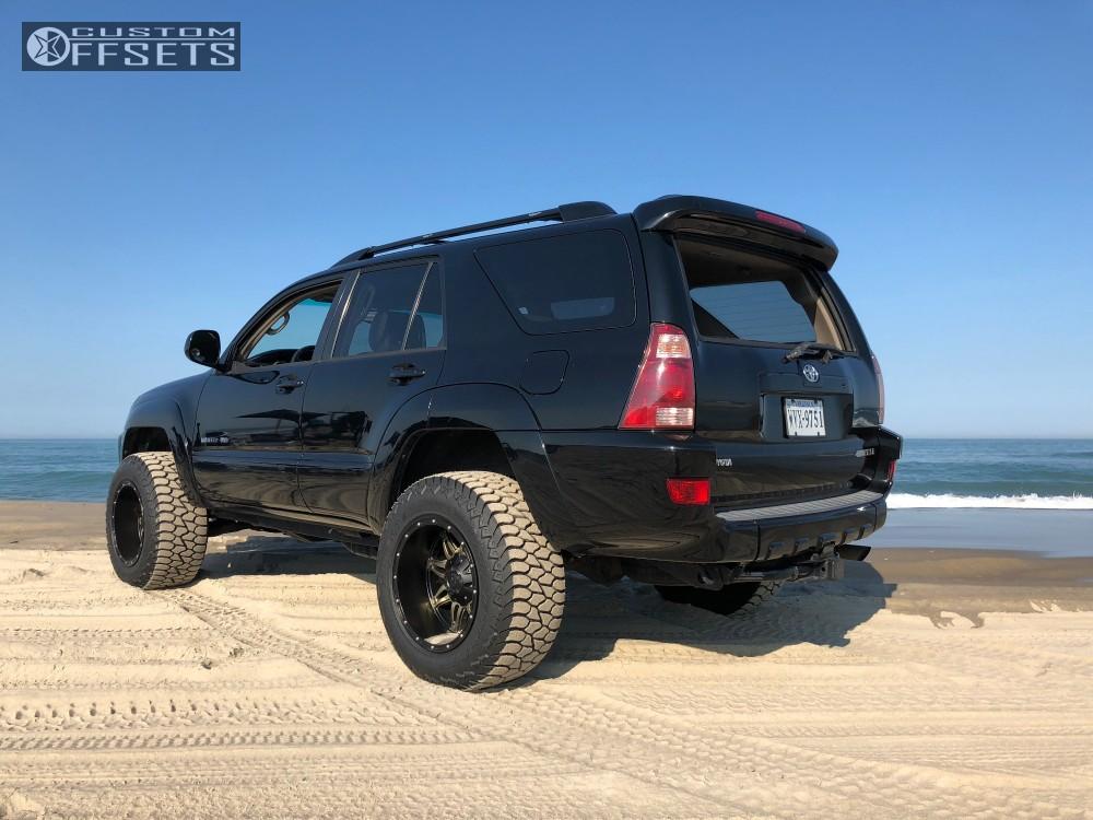 9 2005 4runner Toyota Daystar Leveling Kit Body Lift Fuel Hostage D531 Black