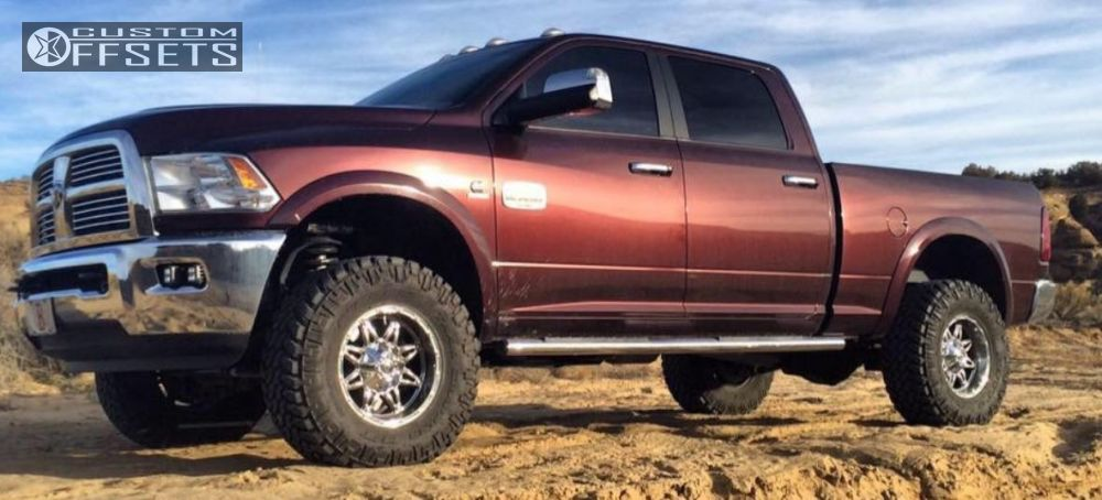 12 2012 3500 Ram Leveling Kit Fuel Hostage Chrome Slightly Aggressive
