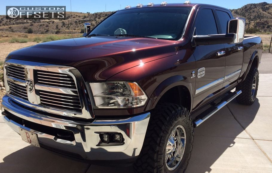 13 2012 3500 Ram Leveling Kit Fuel Hostage Chrome Slightly Aggressive