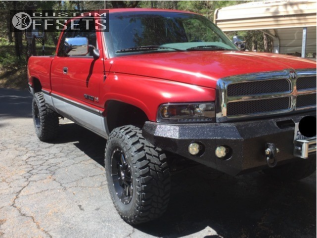 1 1997 Ram 1500 Dodge Rough Country Leveling Kit Alloy Ion Style 141 Machined Accents