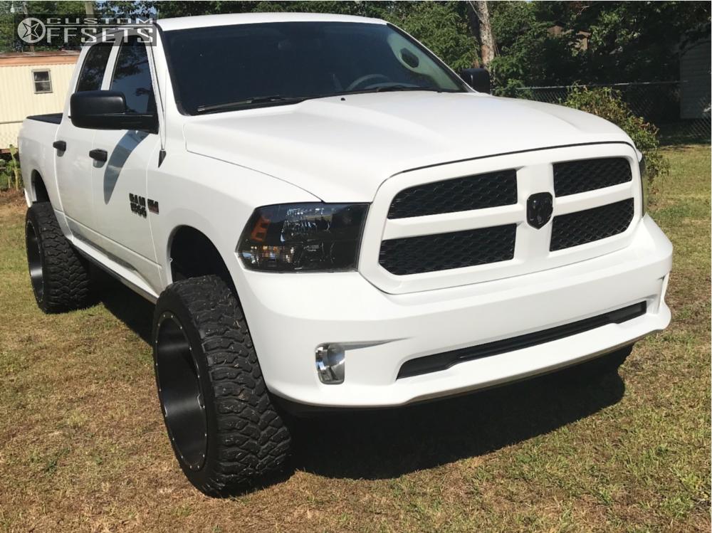 1 2017 1500 Ram Rough Country Suspension Lift 6in Fuel Maverick Matte Black