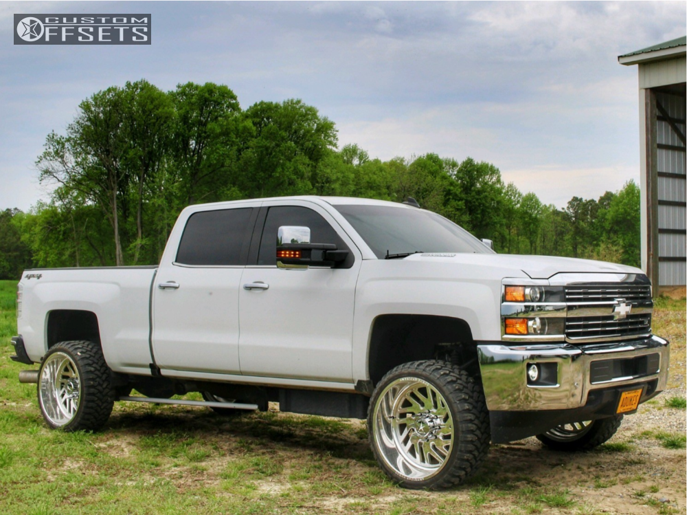 1 2016 Silverado 2500 Hd Chevrolet Rough Country Suspension Lift 35in American Force Kash Polished