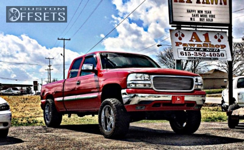 1 1999 Sierra 1500 Gmc Suspension Lift 6 Ultra Predators Chrome Aggressive 1 Outside Fender
