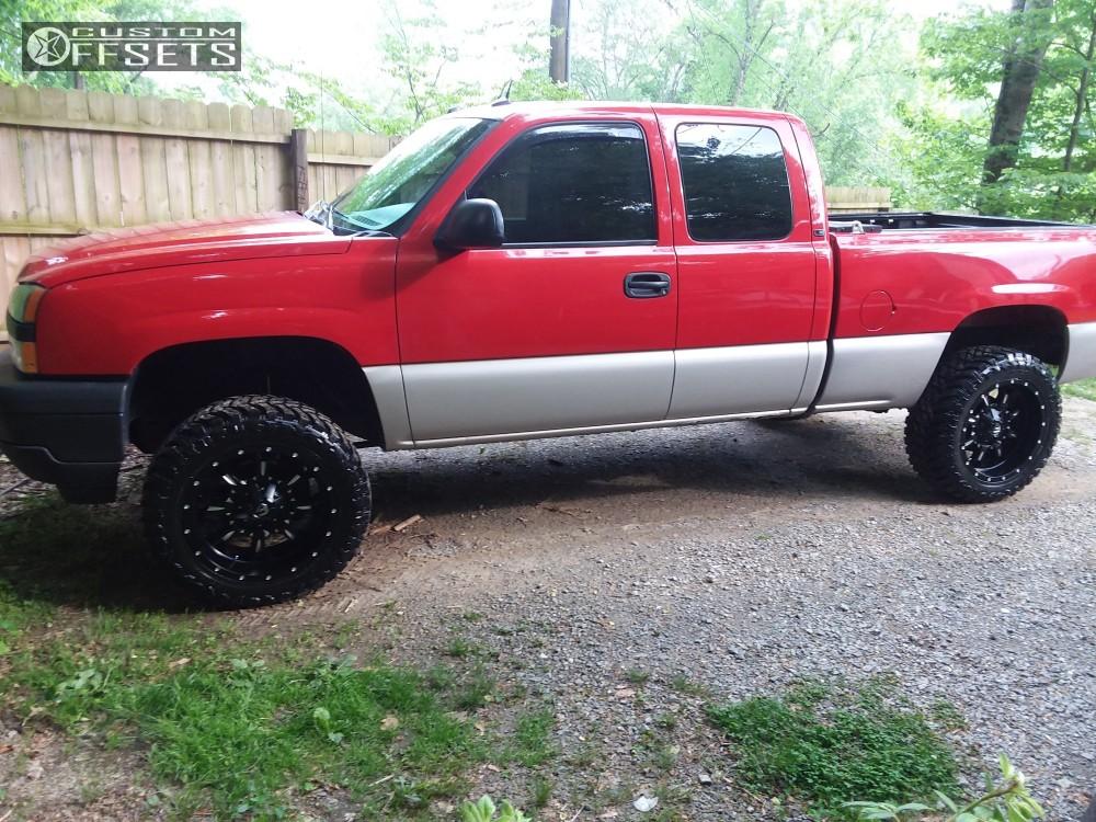 1 2005 Silverado 1500 Chevrolet Rough Country Suspension Lift 4in Fuel Krank Black