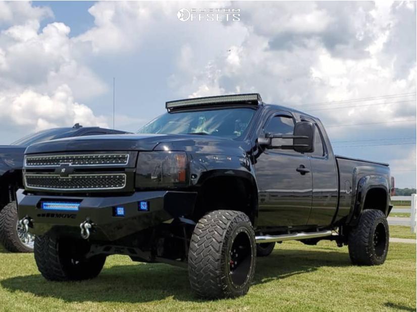 1 2013 Silverado 1500 Chevrolet Rough Country Suspension Lift 75in Xd Xd820 Black