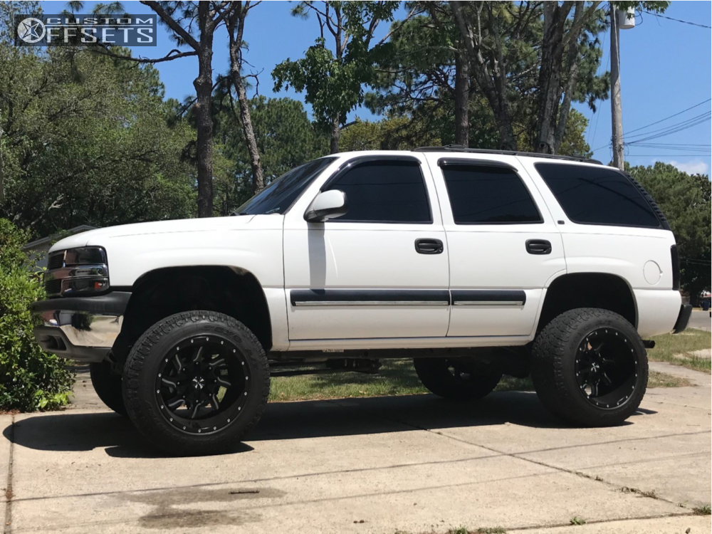 1 2001 Tahoe Chevrolet Rough Country Suspension Lift 6in Cali Offroad Twisted Machined Black