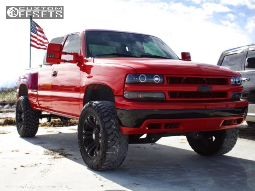 1 2000 Silverado 1500 Chevrolet Rough Country Suspension Lift 6in Xd Monster Black