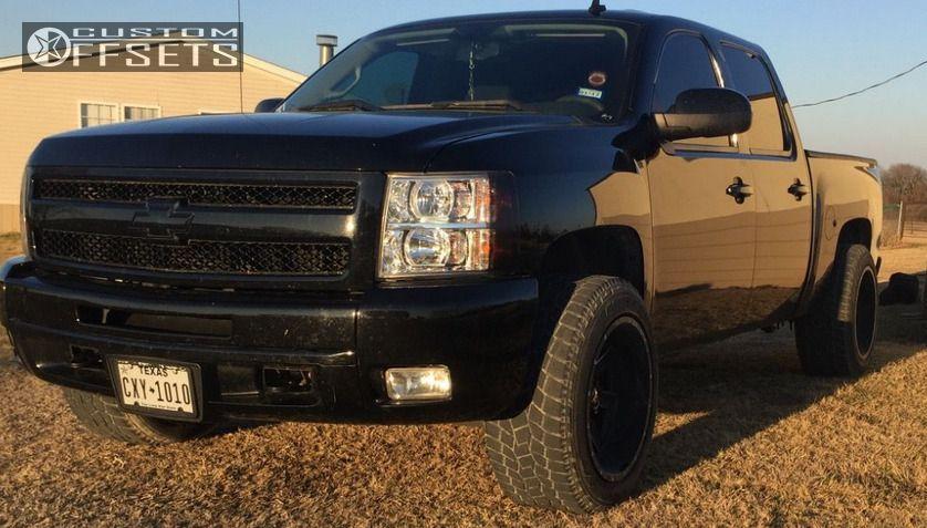 2 2011 Silverado 1500 Chevrolet Stock Ballistic Rage Black Super Aggressive 3 5