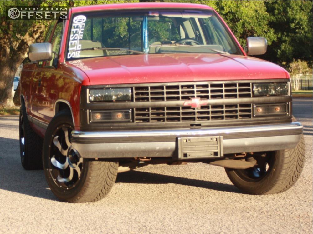 1 1992 C1500 Chevrolet Stock Stock Red Dirt Road Titan Chrome