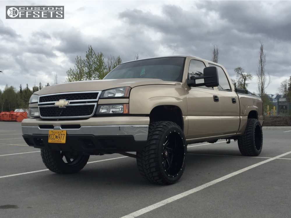 1 2007 Silverado 1500 Classic Chevrolet Rough Country Leveling Kit Ballistic Guillotine Machined Black