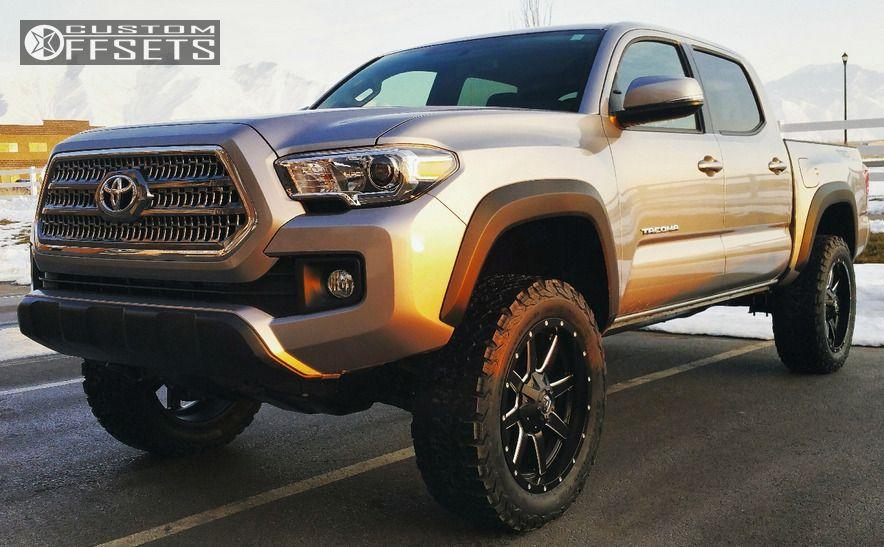 1 2016 Tacoma Toyota Suspension Lift 3 Fuel Maverick Machined Accents Slightly Aggressive