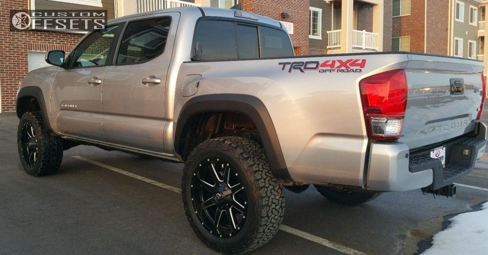 2 2016 Tacoma Toyota Suspension Lift 3 Fuel Maverick Machined Accents Slightly Aggressive