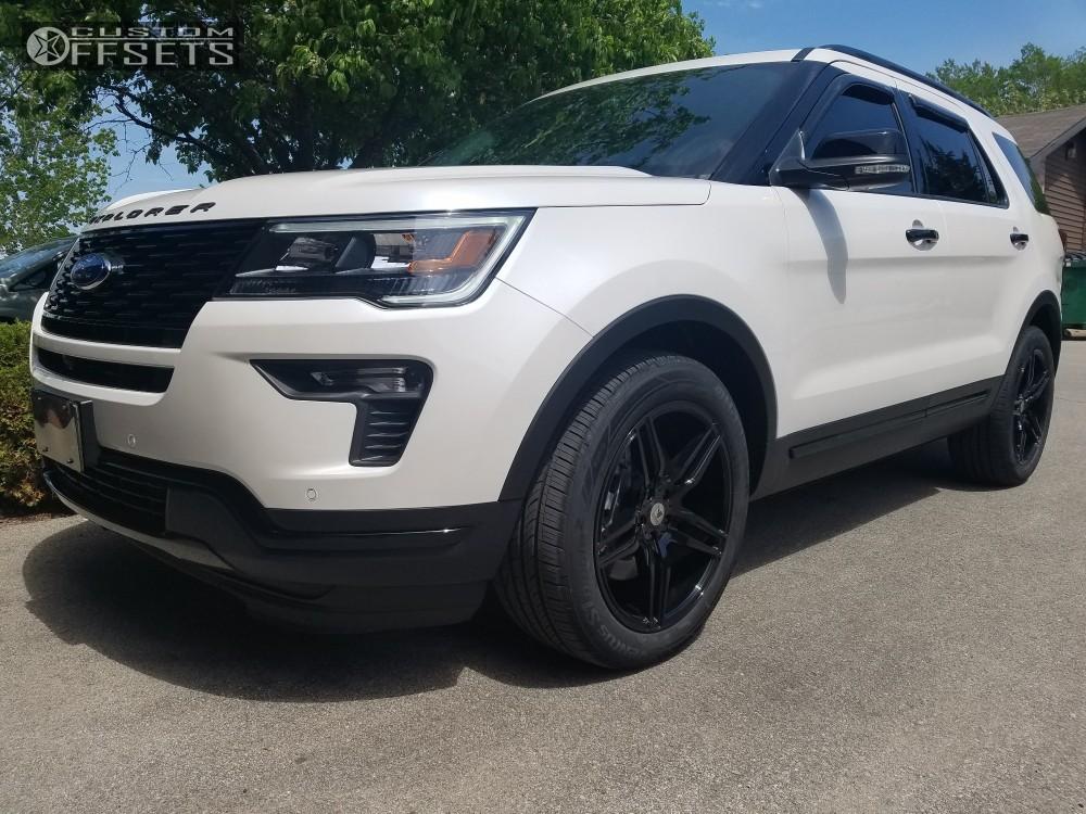 Ford Explorer Black Rims >> 2018 Ford Explorer Sport Asanti Black Abl 12 Stock Stock