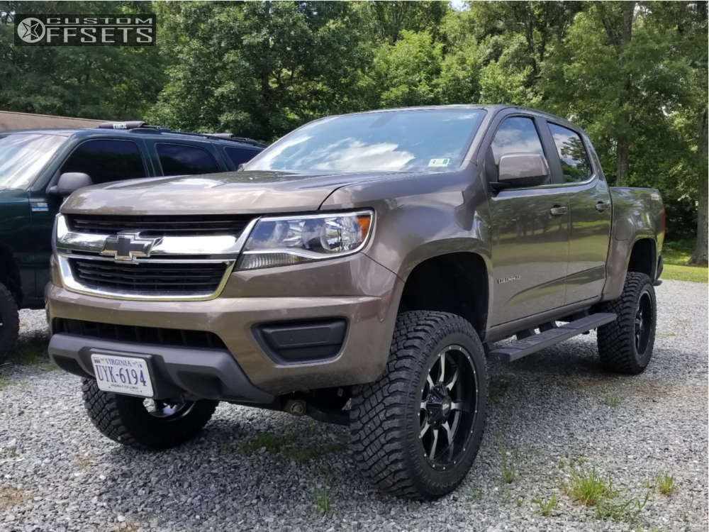 1 2015 Colorado Chevrolet Rough Country Suspension Lift 6in Moto Metal Mo970 Machined Black