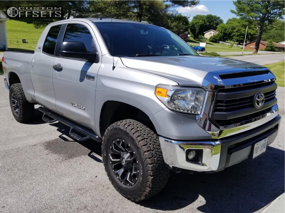 1 2015 Tundra Toyota Readylift Suspension Lift 3in Fuel Assault Matte Black