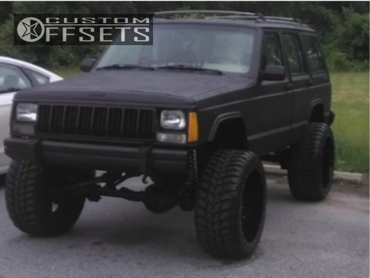 1 1992 Cherokee Jeep Rough Country Suspension Lift 6in Twisted Offroad Billet Black