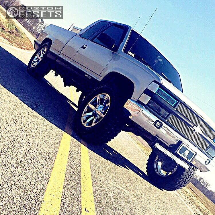 1 1997 Silverado Chevrolet Suspension Lift 4 Kmc Slide Chrome Aggressive 1 Outside Fender