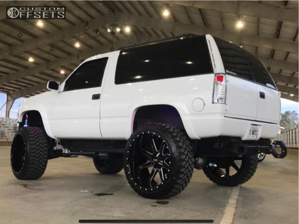 """1998 Chevrolet Tahoe Super Aggressive 3""""-5"""" on 26x14 -76 offset Xtreme Mudder Xm-304 and 37""""x13.5"""" Rbp Repulsor MT on Suspension Lift 6"""" & Body 3"""" - Custom Offsets Gallery"""