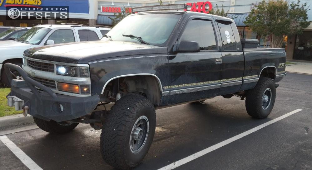 1 1998 K1500 Chevrolet Custom Suspension Lift 7in Ion Alloy Other Black