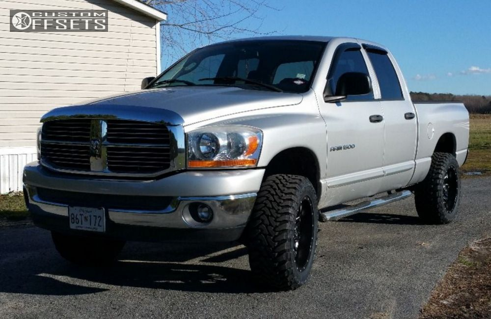 Wheel Offset 2006 Dodge Ram 1500 Aggressive 1 Outside ...
