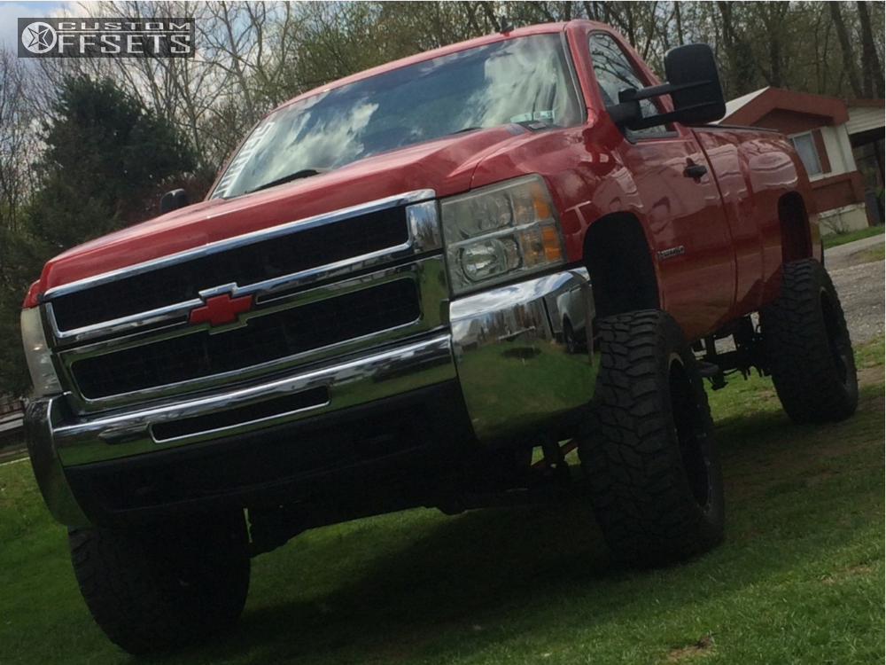 1 2007 Silverado 2500 Hd Chevrolet Rough Country Suspension Lift 6in Dropstars 645mb Black