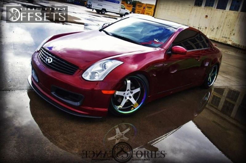 Wheel Offset 2006 Infiniti G35 Nearly Flush Dropped 1 3 Custom Rims
