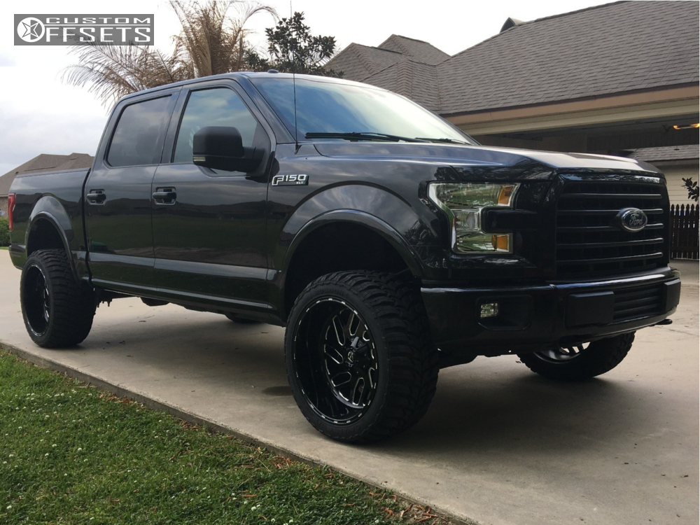 1 2015 F 150 Ford Rough Country Suspension Lift 35in Fuel Triton Machined Black