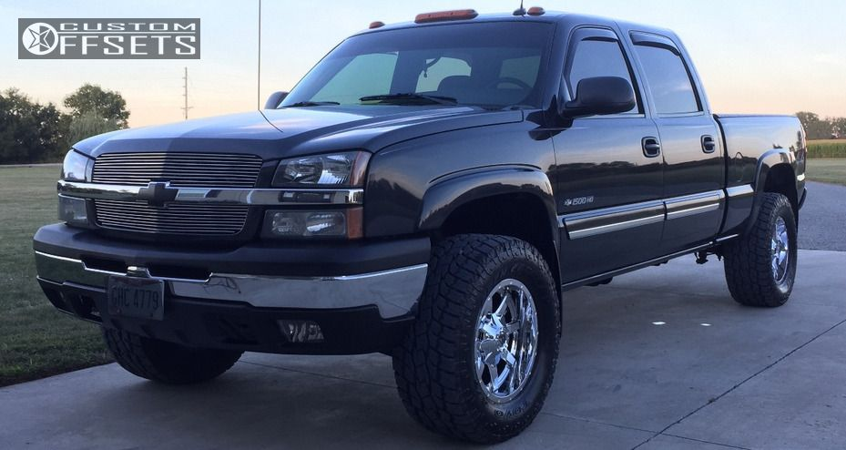 1 2003 Silverado 1500 Hd Chevrolet Leveling Kit Fuel Maverick Chrome Slightly Aggressive