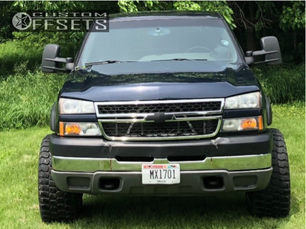 """2005 Chevrolet Silverado 2500 HD Super Aggressive 3""""-5"""" on 20x12 -44 offset Gear Off-Road Kickstand and 33""""x12.5"""" Ironman All Country Mt on Leveling Kit - Custom Offsets Gallery"""