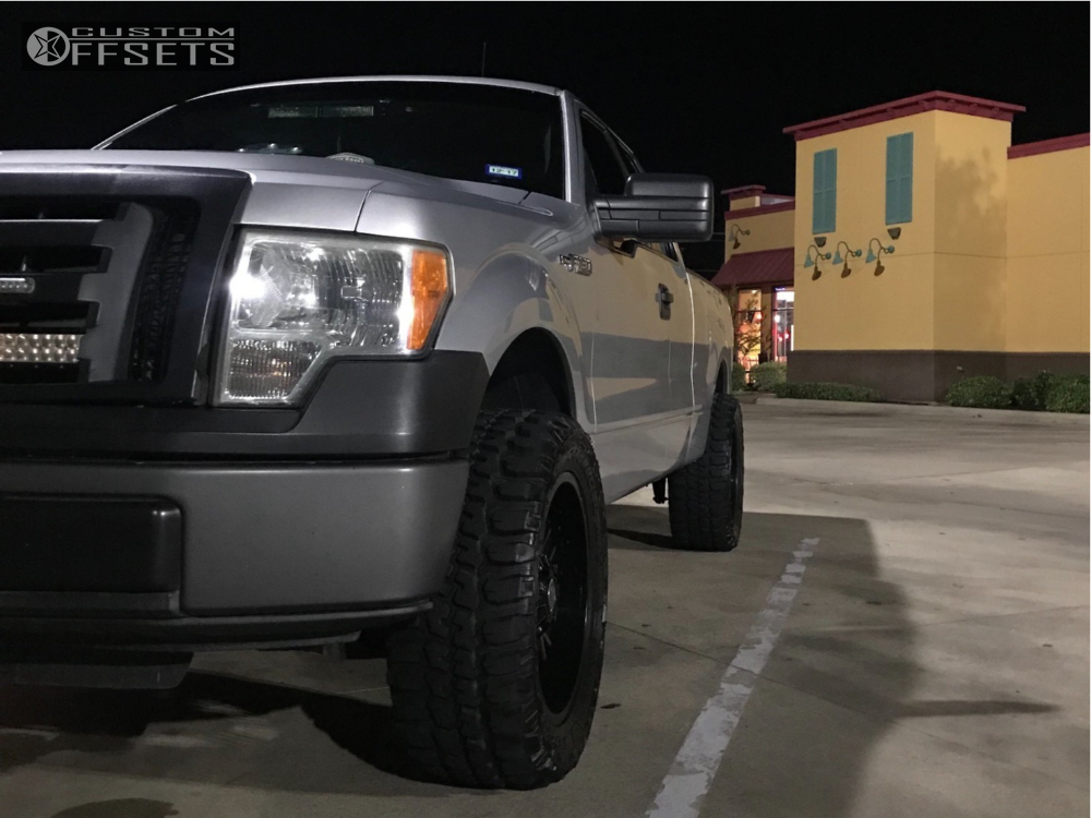 1 2010 F 150 Ford Rough Country Leveling Kit Panther Shute Black