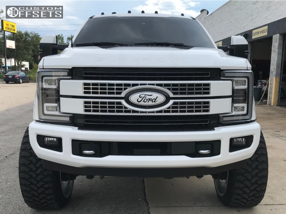 "2017 Ford F-350 Super Duty Hella Stance >5"" on 26x14 -76 offset Fuel Forged Ff02 and 37""x13.5"" Comforser Cf3000 on Suspension Lift 6"" - Custom Offsets Gallery"