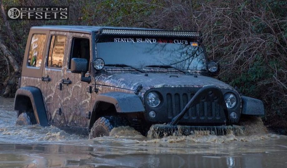 """2007 Jeep Wrangler Nearly Flush on 17x8 10 offset Xd Rockstar Ii and 35""""x12.5"""" General Grabber AT2 on Suspension Lift 3.25"""" - Custom Offsets Gallery"""
