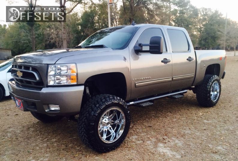 1 2009 Silverado 1500 Chevrolet Suspension Lift 75 Fuel Hostage Chrome Aggressive 1 Outside Fender
