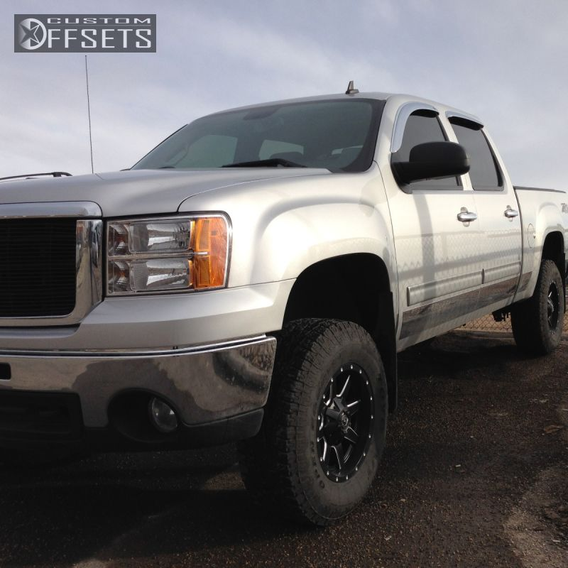 1 2011 Sierra 1500 Gmc Suspension Lift 4 Fuel D538 Maverick Black Hellaflush