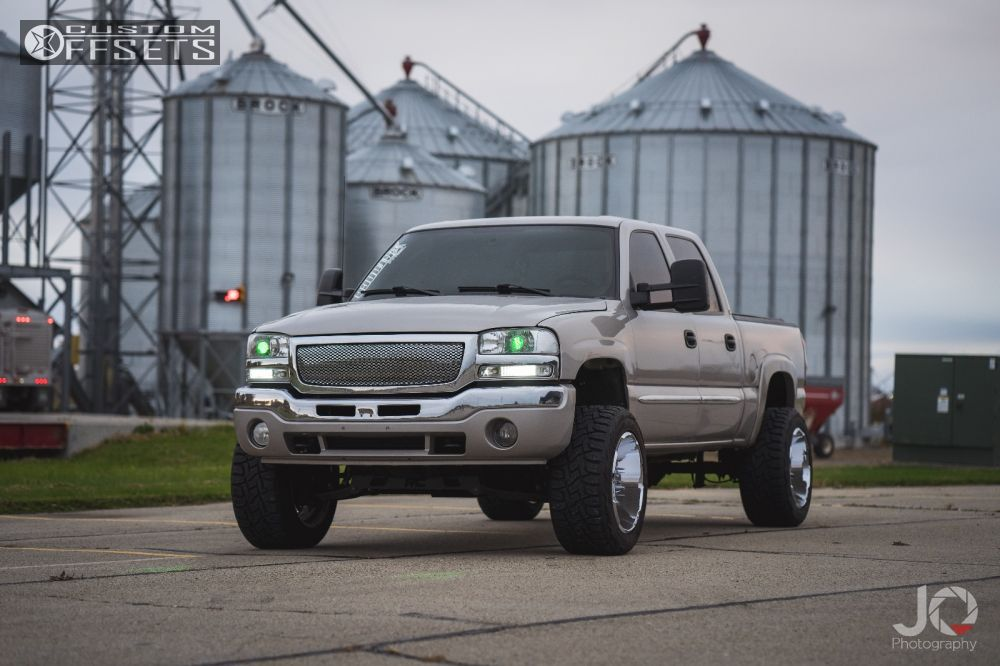 1 2004 Sierra 1500 Gmc Suspension Lift 6 Hostile Zombie Chrome Super Aggressive 3 5