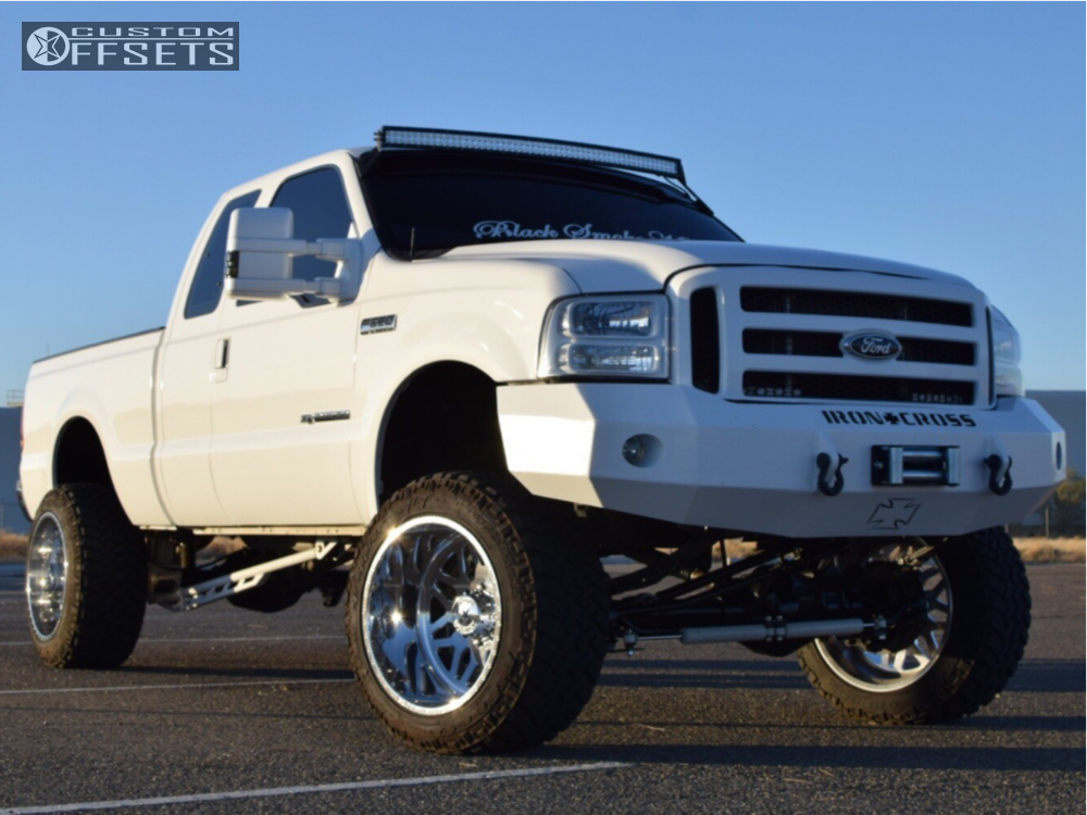 1 2001 F 250 Super Duty Ford Custom Suspension Lift 65in American Force Trax Ss Polished