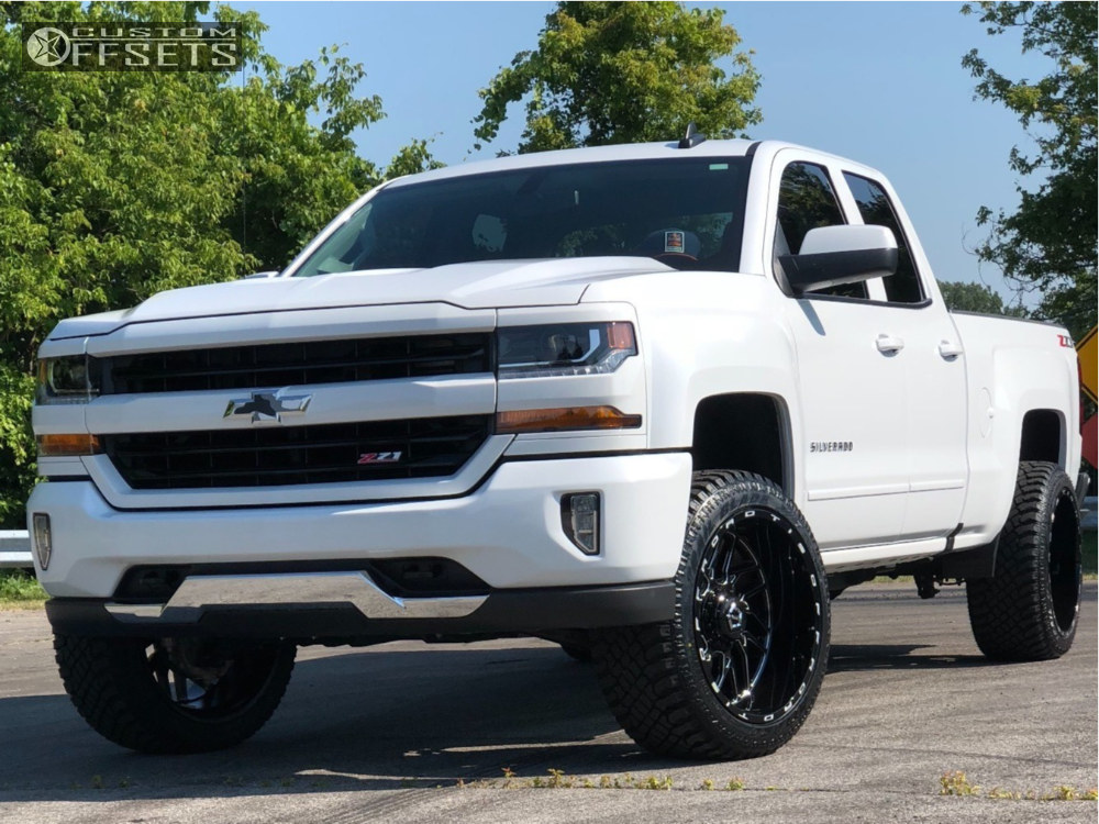 1 2018 Silverado 1500 Chevrolet Motofab Leveling Kit Tis 544bm Machined Black