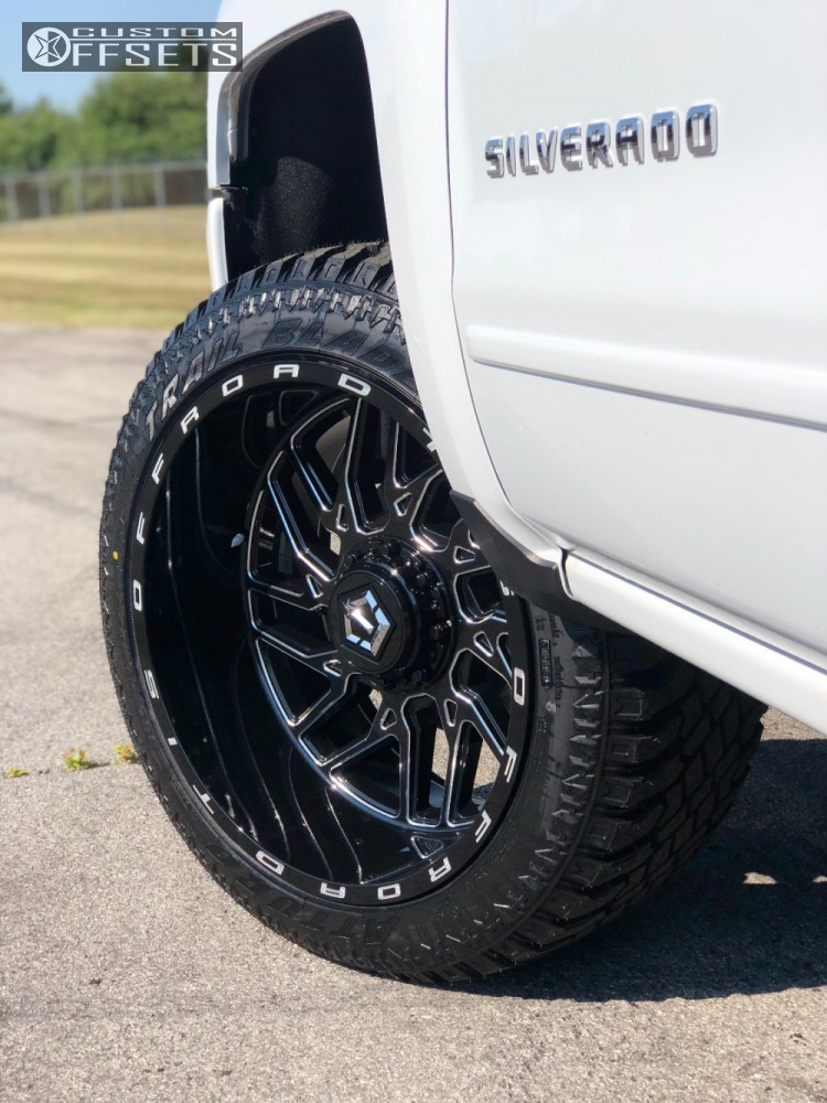 8 2018 Silverado 1500 Chevrolet Motofab Leveling Kit Tis 544bm Machined Black