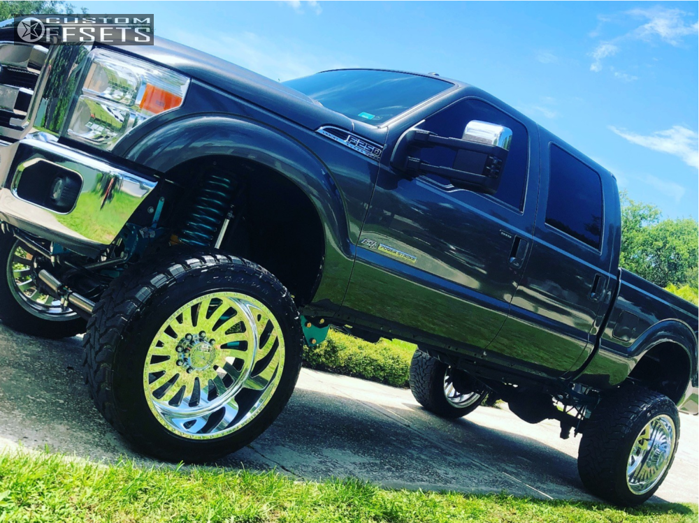 1 2016 F 250 Super Duty Ford Fabtech Suspension Lift 10in American Force Octane Ss Polished