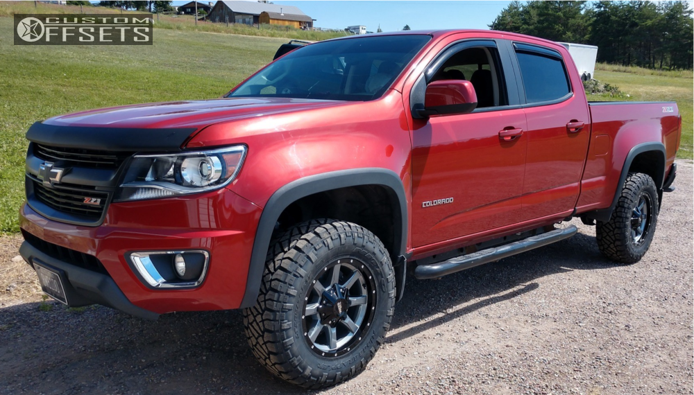 2016 chevrolet colorado moto metal mo970 rough country leveling kit body lift. Black Bedroom Furniture Sets. Home Design Ideas
