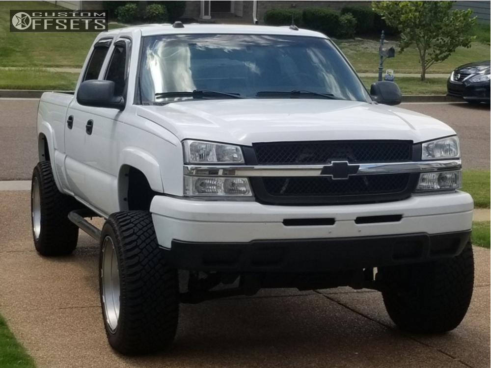 1 2005 Silverado 1500 Hd Chevrolet Rough Country Suspension Lift 6in Xd Rockstar 3 Machined Black