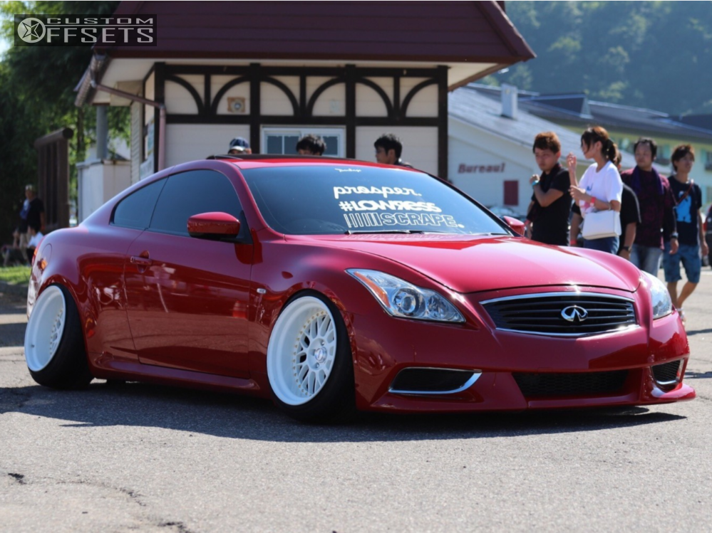 2008 Infiniti G37 Work Meister Megan Racing Coilovers