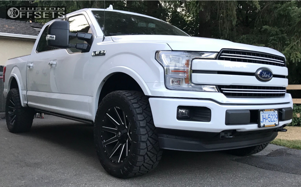 F Ford Bds Leveling Kit Fuel Contra Machined Black